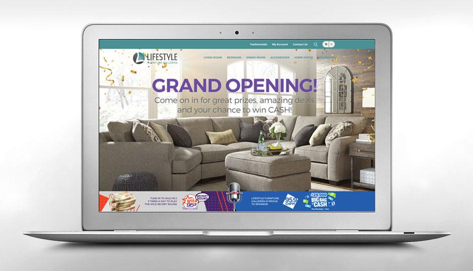Lifestyle Furniture Galleries website