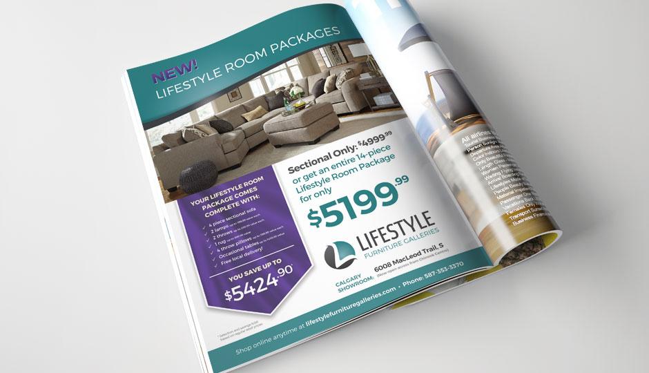Lifestyle Furniture Galleries ad